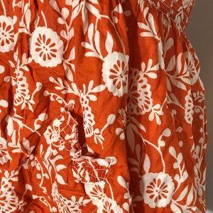 a5088b731c At Last Tops - At Last XL Orange Tube Top Hawaiian Flowers
